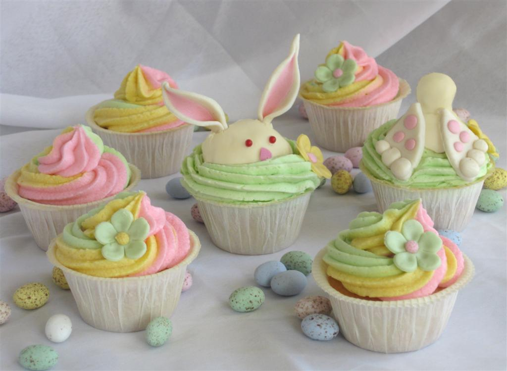 Sweet easter cupcakes english for Cute cupcake decorating ideas for easter